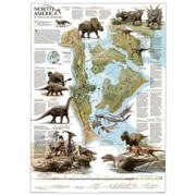Dinosaurs of North America from Canada Maps Store