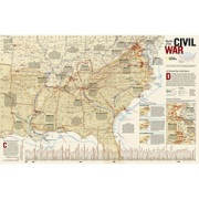 Battles of the Civil War, laminated from Louisiana Maps Store