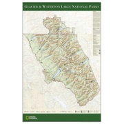 Glacier & Waterton Lakes National Parks Poster from Montana Maps Store