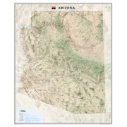 Arizona, laminated from Arizona Maps Store