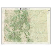 Colorado, laminated from Colorado Maps Store