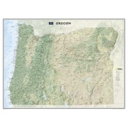 Oregon, laminated from Oregon Maps Store