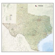 Texas, laminated from Texas Maps Store