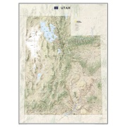 Utah, laminated from Utah Maps Store