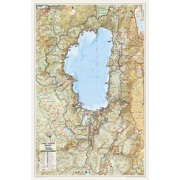 Lake Tahoe Basin, laminated from California Maps Store
