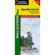 Apostle Isles National Lakeshore from Wisconsin Maps Store
