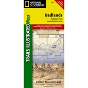 Badlands National Park from South Dakota Maps Store