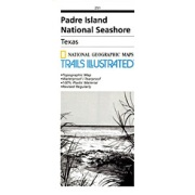 Padre Island National Seashore from Texas Maps Store