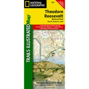 Theodore Roosevelt National Park / Maah Daah Hey Trail from South Dakota Maps Store