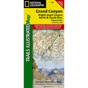 Grand Canyon, Bright Angel Canyon/North & South Rims from Arizona Maps Store