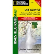 Yellowstone SW / Old Faithful from Wyoming Maps Store