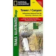Yellowstone NE / Tower / Canyon from Wyoming Maps Store