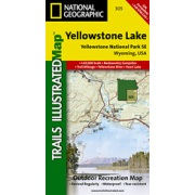 Yellowstone SE / Yellowstone Lake from Wyoming Maps Store