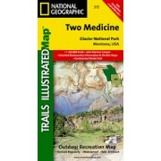 Two Medicine - Glacier National Park from Montana Maps Store