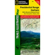 Presidential Range / Gorham, White Mountains National Forest from New Hampshire Maps Store