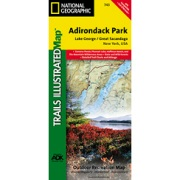Lake George / Great Sacandaga Lake, Adirondack Park from New York Maps Store