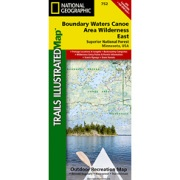 Boundary Waters - East, Superior National Forest from Minnesota Maps Store