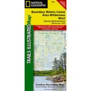 Boundary Waters - West, Superior National Forest from Minnesota Maps Store