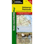 DelMarVa Peninsula, Regional Recreational map from Virginia Maps Store