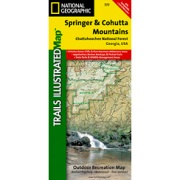 Springer & Cohutta Mountains, Chattahoochee National Forest from Georgia Maps Store