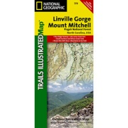 Linville Gorge / Mount Mitchell, Pisgah National Forest from North Carolina Maps Store