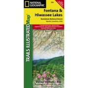 Fontana and Hiwasee Lakes, Nantahala National Forest from North Carolina Maps Store