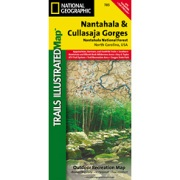 Nantahala and Cullasaja Gorges, Nantahala National Forest from North Carolina Maps Store