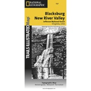Blacksburg / New River Valley, Jefferson National Forest from Virginia Maps Store