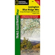 Lexington / Blue Ridge, G.W. & Jefferson National Forests from Virginia Maps Store