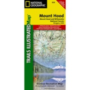 Mount Hood, Mount Hood & Willamette National Forests from Oregon Maps Store