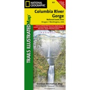 Columbia River Gorge, Columbia River Gorge National Scenic Area from Oregon Maps Store