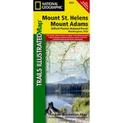 Mount St. Helens/Mount Adams (Gifford-Pinchot National Forest) from Washington Maps Store