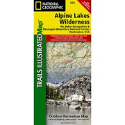 Alpine Lakes Wilderness Area, Mount Baker-Snoqualmie & Okanogan-Wenatchee National Forests from Washington Maps Store