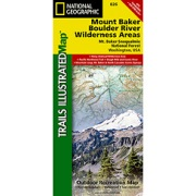 Mount Baker & Boulder River Wilderness Areas, Mount Baker-Snoqualmie National Forest from Washington Maps Store