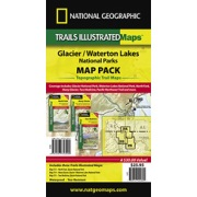 Glacier / Waterton Lakes National Park Map Pack Bundle from Montana Maps Store