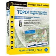 TOPO! Michigan, Ohio, Indiana from Michigan Maps Store