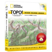 TOPO! Missouri, Oklahoma, Arkansas from Oklahoma Maps Store