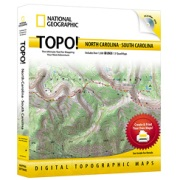 TOPO! North Carolina, South Carolina from South Carolina Maps Store
