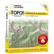 TOPO! Tennessee, Kentucky from Tennessee Maps Store