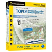 TOPO! Wisconsin, Illinois & Michigan's Upper Peninsula from Wisconsin Maps Store