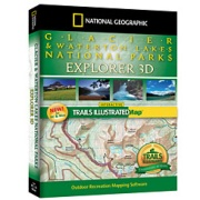 Glacier & Waterton Lakes National Parks Explorer from Montana Maps Store