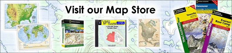 YellowMaps Map Store - National Geographic Maps Licensed Retailer