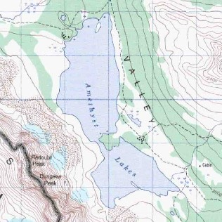 topo map of Amethyst Lakes