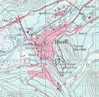 topo map of Banff