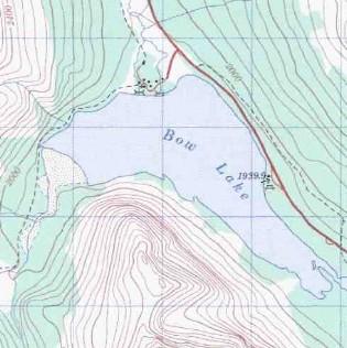 topo map of Bow Lake