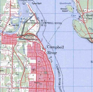 topo map of Campbell River