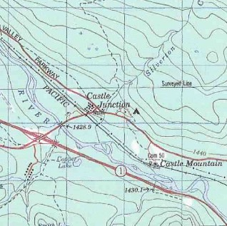 topo map of Castle Junction
