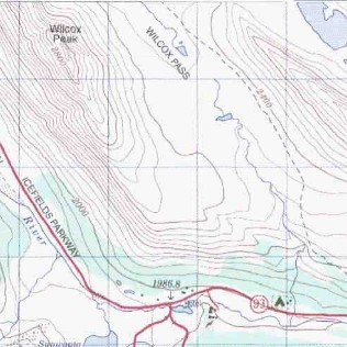 Columbia Icefield Topo Map - Map of jasper oregon