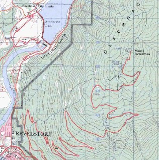 topo map of Revelstoke