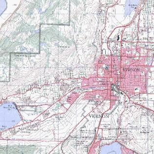 topo map of Vernon